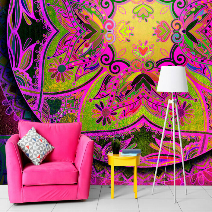 TenStickers. Floral Mandala Wall Mural. Turn any room in your house into a place of complete zen with this beautiful floral mandala wall mural. Worldwide delivery available!