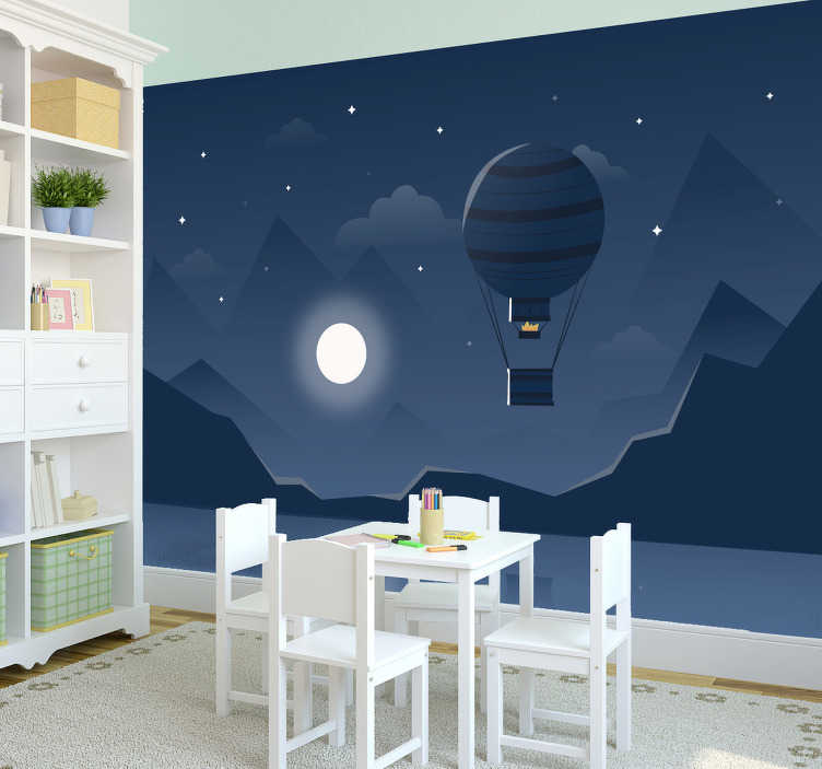 TenStickers. Hot Air Balloon 3D Wall Mural. Now you can finally truly live with your head in the clouds with this amazing hot air balloon wall mural. Worldwide delivery available!