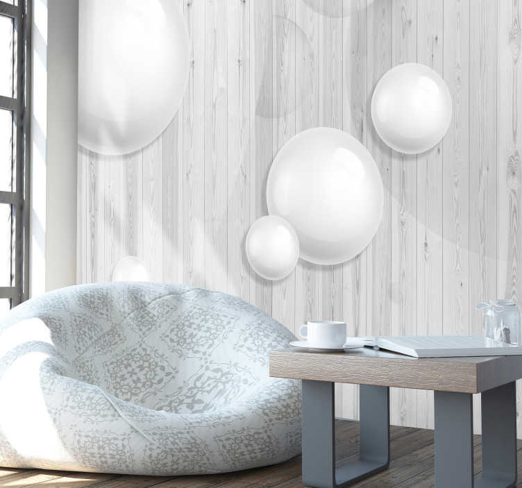 TenStickers. 3D Sphere Wall Mural. Bring a modern, edgy style into your home, office or store with this awesome 3D sphere wall mural. Worldwide delivery available!