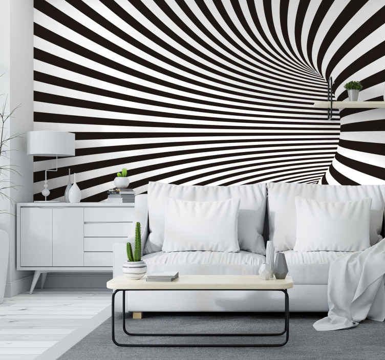 TenStickers. 3D Tunnel Mural Wallpaper. Transform your home into something truly cool and beautiful with this amazing 3D VFX tunnel mural wallpaper. Worldwide delivery!