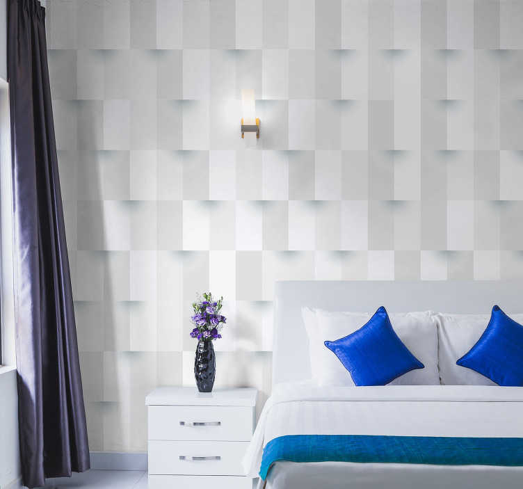 TenStickers. 3D Cube Mural Wallpaper. Bring your home into the 21st century in styles with this incredible 3D cube wall mural. Worldwide delivery available now!