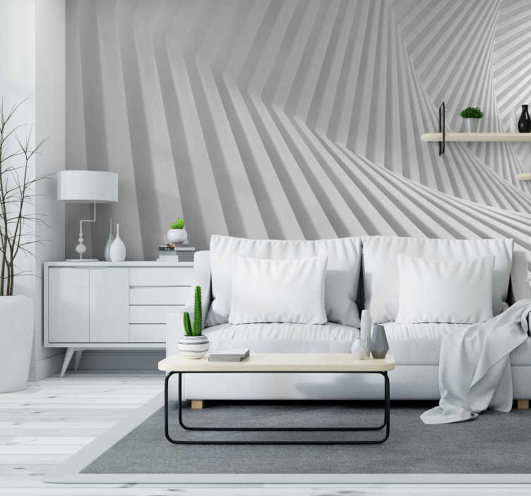 TenStickers. White geometry abstract Wall Mural. Looking for a bold mural that will transform your room completely? This is it! This abstract wall mural is exactly what you've been searching for!