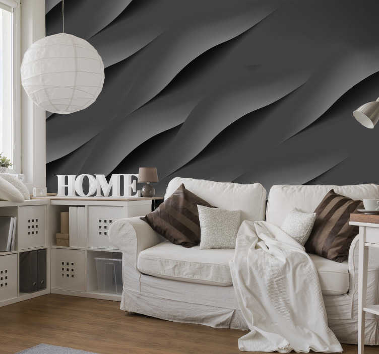 Abstract Grey 3d Wall Mural