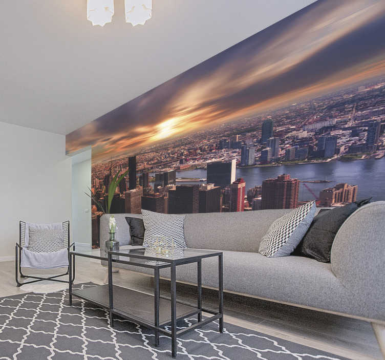 TenStickers. Morning in New York  Wall Mural. Wake up to the stunning sun rise over New York city with this New York wall mural! The perfect addition to any home. High definition images