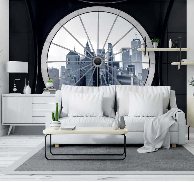 TenStickers. Cold city Wall Mural. When guests walk into your home they'll be wondering how you got that city view, and they'll be astonished to hear that it is a city wall mural!