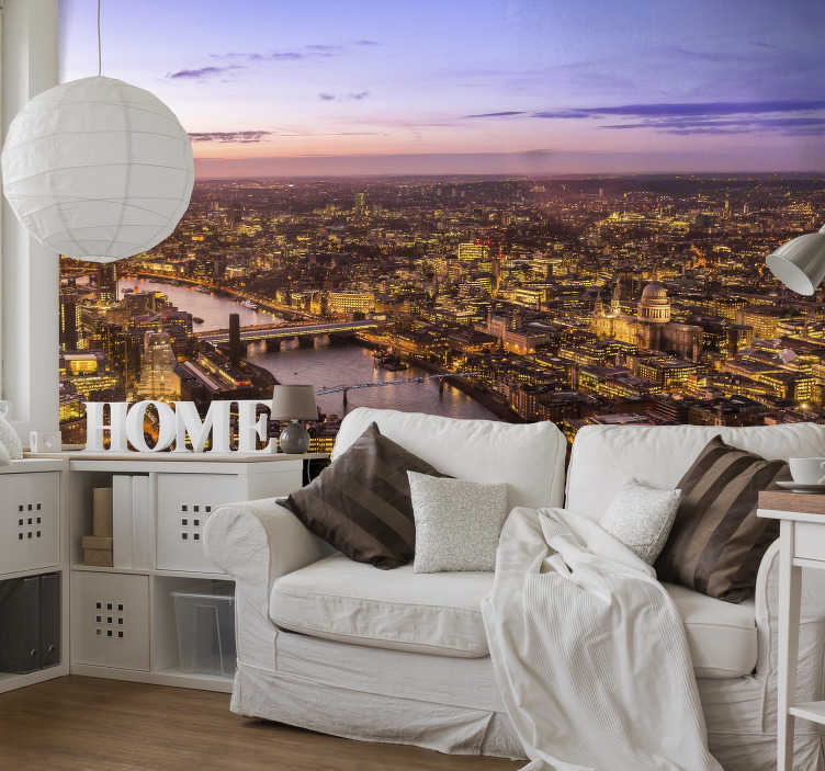 TenStickers. London Skyline Wall Mural. Get the best view in the city no matter where you are in the world with this amazing London Skyline mural wallpaper. Worldwide delivery!