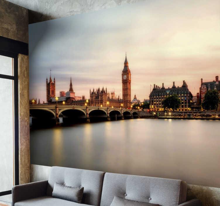 Tenstickers. Westminster london väggmålning. London är världens största stad. Fira det faktumet med denna fantastiska london väggmålning. Leverans över hela världen tillgänglig!