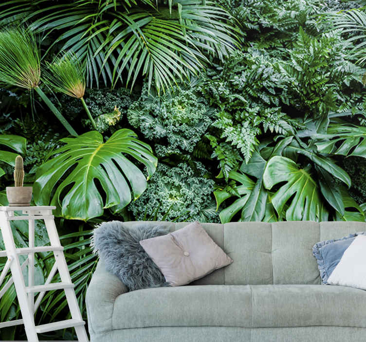 TenStickers. Jungle Plant Forest Wall Mural. Turn any room in your home, office or store into a tropical paradise with this amazing jungle wall mural. Worldwide delivery available!