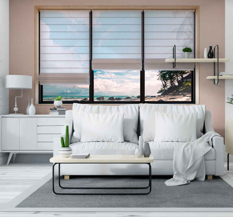 TenStickers. 3D Effect Beach Mural Wallpaper. Turn your home into a gorgeous beach getaway with this amazing 3D beach wall mural. Free worldwide delivery available now!