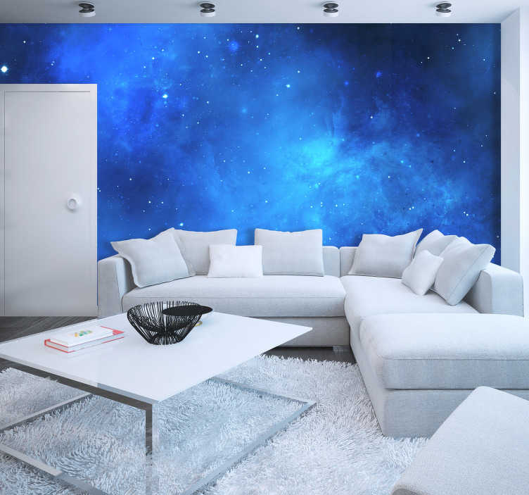 TenStickers. Starry Night Sky Wall Mural. Drift off into a peaceful and deep sleep with this amazing starry sight wall mural. free worldwide delivery available now!