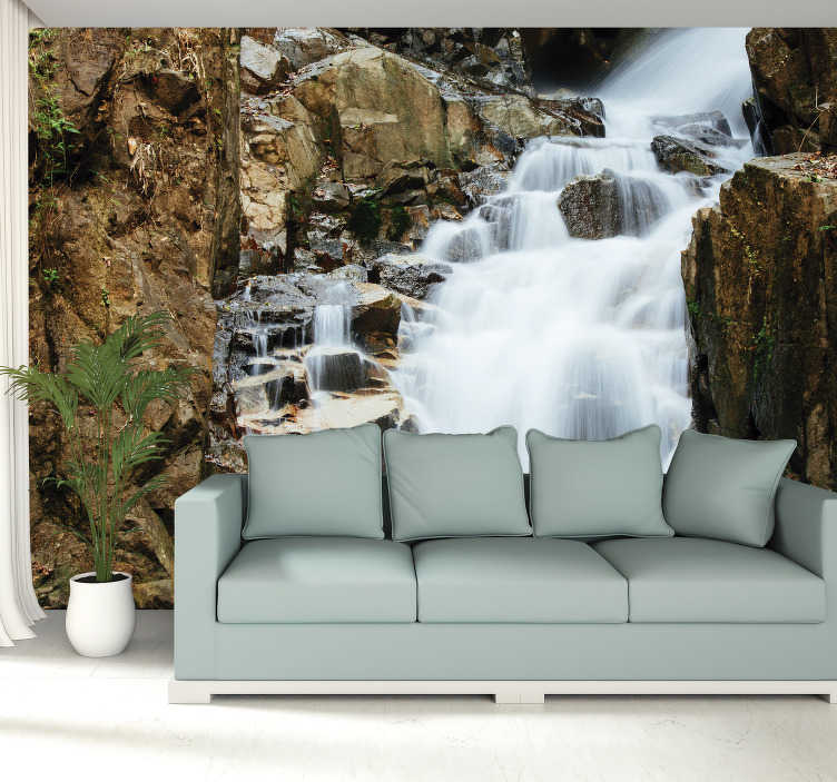 TenStickers. Serene Waterfall Wall Mural. If you are after a stunning, unique and high quality waterfall mural, then look no further, you've found it! 100s of satisfied customers!