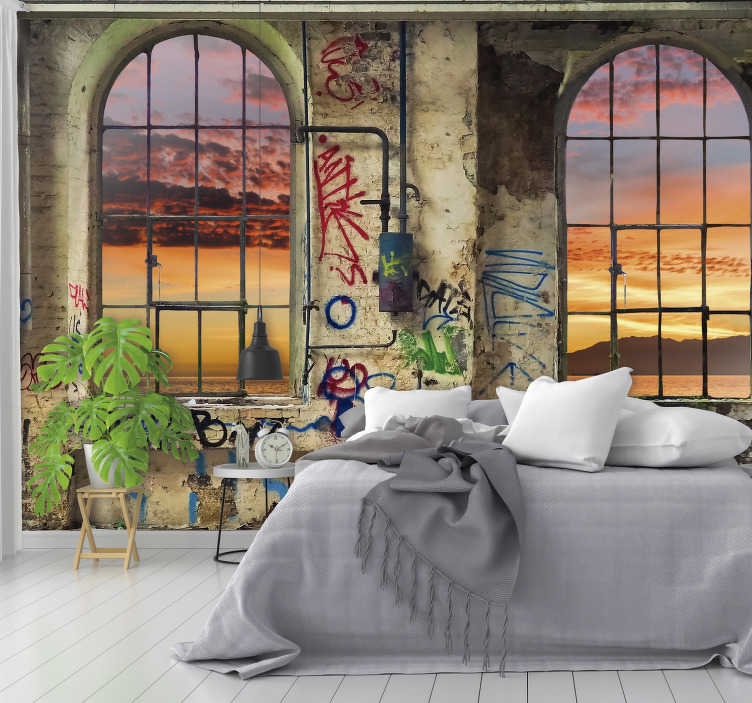TenStickers. Coastal 3D Mural Wallpaper. Now you can have the best view in your neighborhood with this amazing coastal landscape wall mural. Worldwide delivery available!