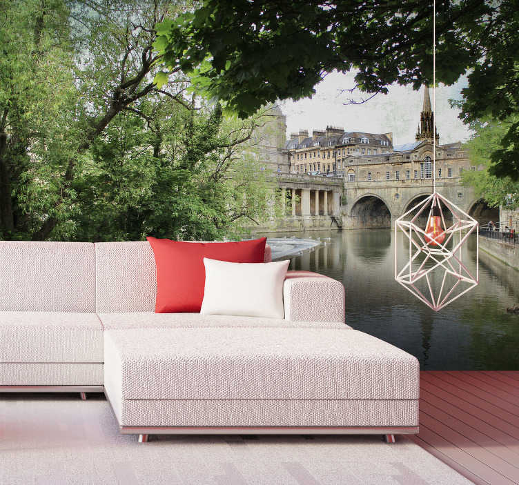 TenStickers. City of Bath mural wallpaper. The great city of Bath in England will be a great decoration for your walls This photo wallpaper can be applied on the wall in your home or workplace.