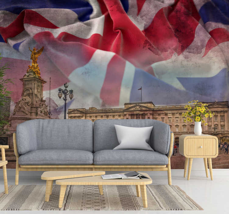 TenStickers. Buckingham Palace City wall mural. Buy online this photomural wall of London with which you can decorate your house in an original and exclusive way. Best quality you can get.