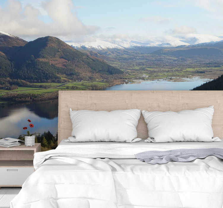 TenStickers. Lake district landscape wall mural. This lake wall mural is perfect for those wanting to add a stunning new look to their room, and what's more, it couldn't be easier or cheaper!