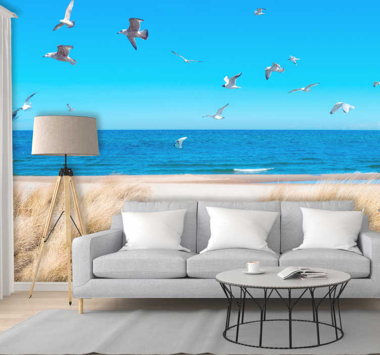 TenStickers. Beach Sunset Wall Mural. Make your home as beautiful as you are with this incredibly gorgeous beach sunset wall mural. Free worldwide delivery available!