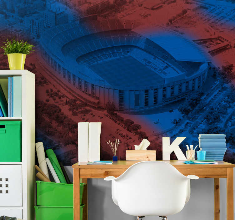 TenStickers. Barcelona Camp Nou Wall Murals for Bedrooms. Original photomural room of Camp Nou with which you can enjoy your own views of the countryside from your room. Easy to apply and in high quality!
