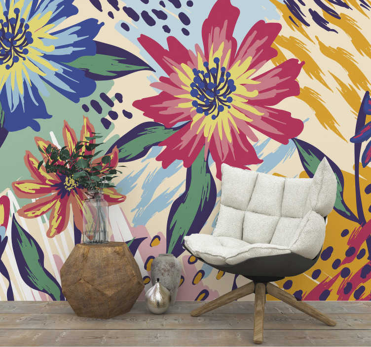 TenStickers. Van Gogh flowers Art Wall Mural. Van Gogh flowers Classic Art Wall Mural design for your living room to create a beauty to always behold. This design is very easy to apply.