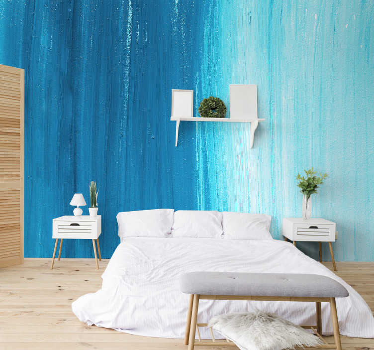 TenStickers. Blue photo  mural wallpaper. A blue textured photo wall mural design of a unique abrasive looking surface This design will look very nice in your living room or bedroom.