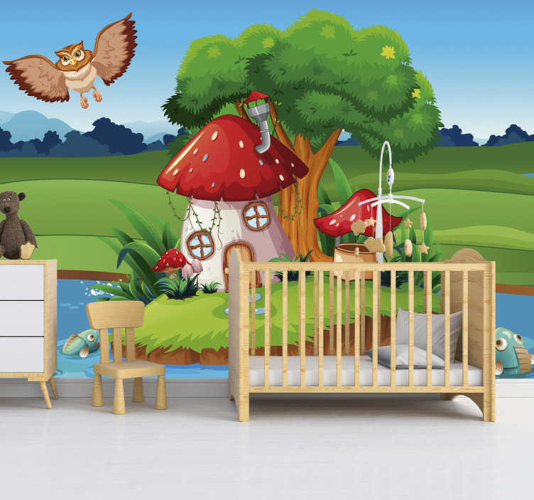 TenStickers. Mr Owl's home nursery wall mural. Want a cute wall mural that your little one will adore and remember for many years? This nursery wall murals is exactly what you need!
