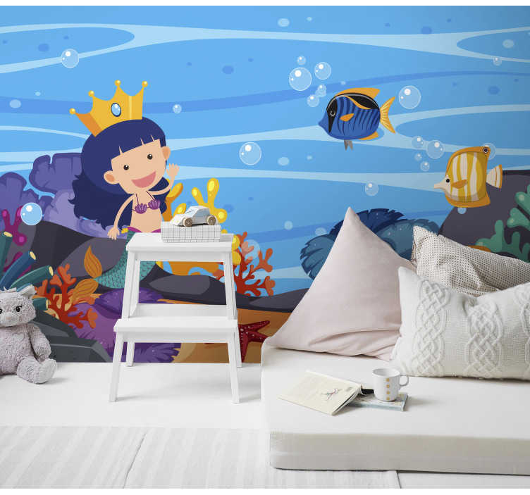 TenStickers. Wall mural mermaid for kids. Wall murals for bedroom for kids are a great way to transform their rooms into places full of adventures. Let the fun begin!