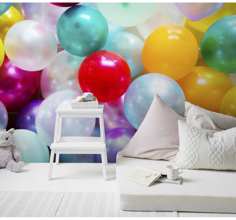 TenStickers. Kids Murals Colourful Balls. High quality and colourful wall mural for kids will be perfect for their rooms. Add this fun and innovative accent to your house.