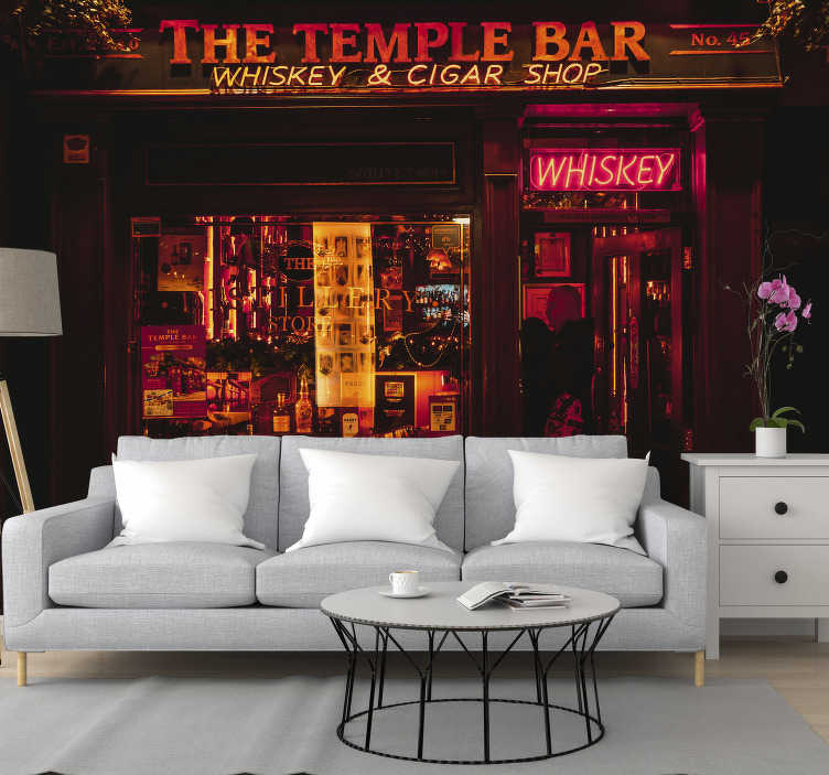 TenStickers. Dublin Pub Wall Murals for Bedrooms. How about bringing the Temple Bar up to your decor with this amazing city wall mural? We are sure you will not regret it.