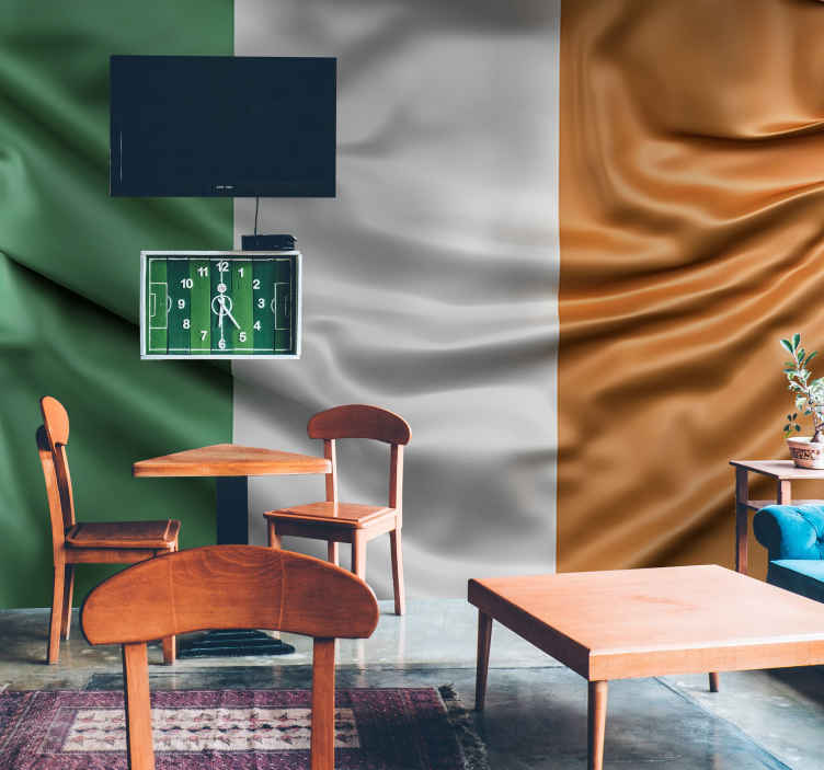 TenStickers. Flag of ireland Wall Murals for Bedrooms. Fantastic country wall mural with the flag of Ireland that you can now enjoy from the comfort of your own home if you're a lover of this country.