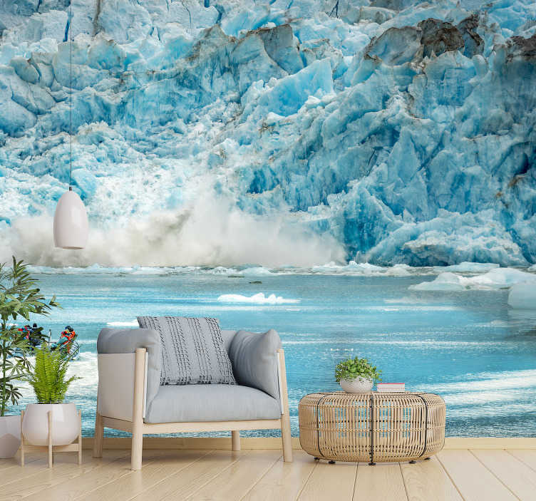 TenStickers. Alaska Ice landscape wall mural. Alaska is beautiful and breathtaking at the same time With our scenery photo mural you can bring this scenery to your home.