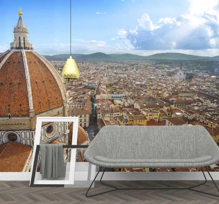 TenStickers. Carta da parati fotografica di Firenze. Questa fantastica fotomurale della città di firenze è proprio ciò di cui hai bisogno. Che sia per il tuo soggiorno o la tua cucina, applicalo dove vuoi.