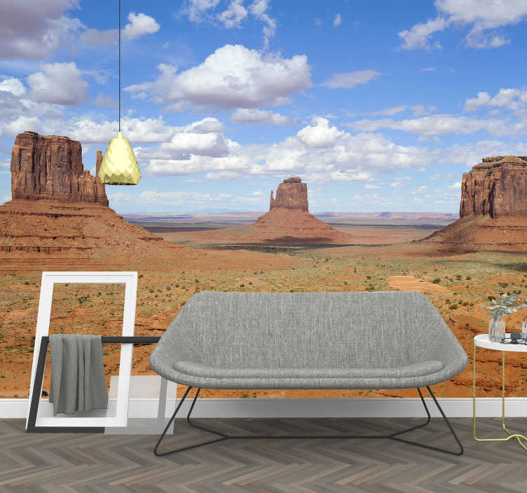 TenStickers. Gran Canyon by day landscape wall mural. With this adhesive wall mural you get the opportunity to enjoy the Gran Canyon that is beautifully depicted in daylight.
