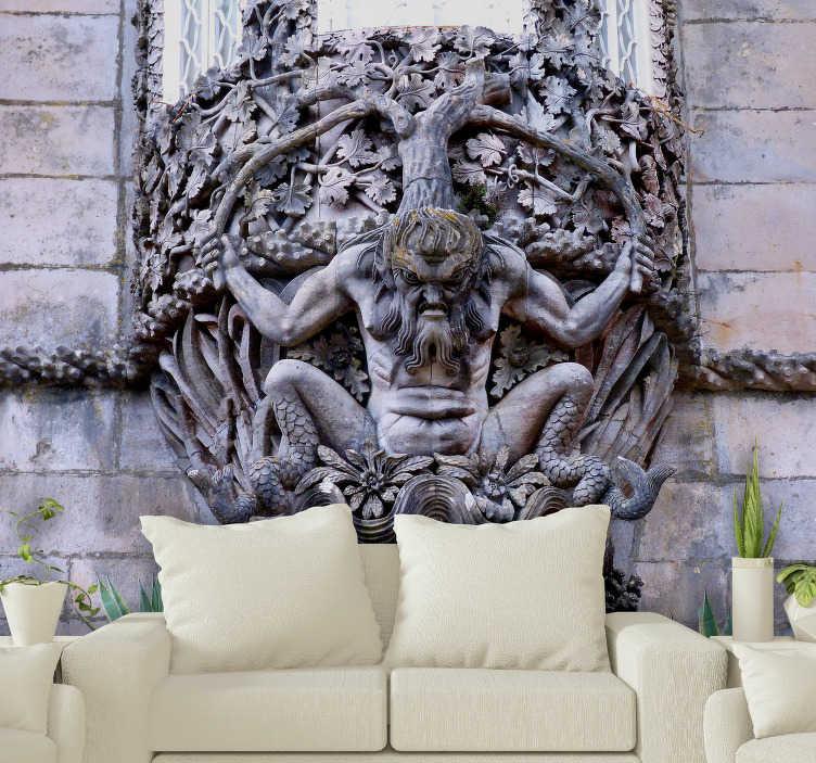TenStickers. Fotomural decorativo de lugares Adamastor . Incrível mural de parede decorativo temático da escultura portuguesa Adamastor, uma das figuras míticas da literatura portuguesa, perfeito para a sua sala de estar!