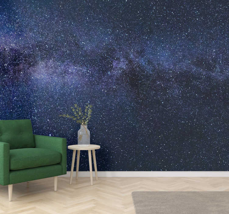 TenStickers. Deep Night Wall Murals for Bedrooms. A wonderful scenery wall mural of the starry sky that will look beautiful in your living room decor, making it more original and personalized.