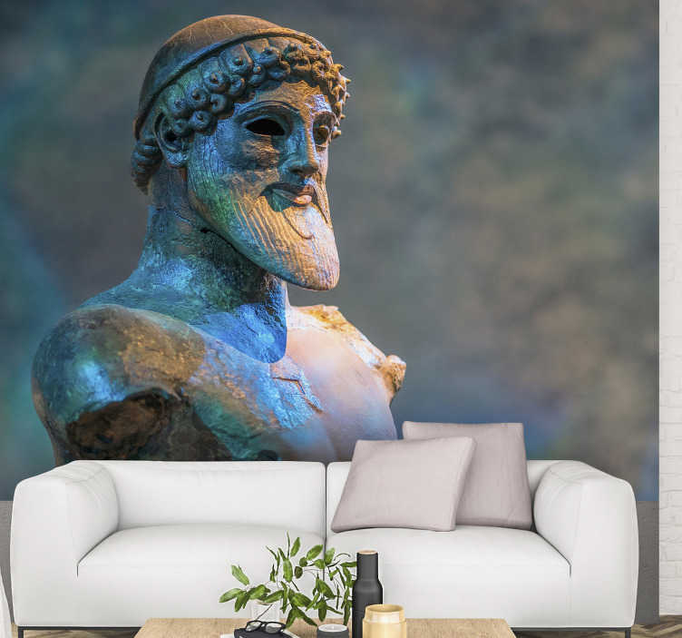 TenStickers. Poseidon Art Wall Mural. This art wall mural of Poseidon  will create a very beautiful effect on the desired wall by the detailed finish that is depicted on it .