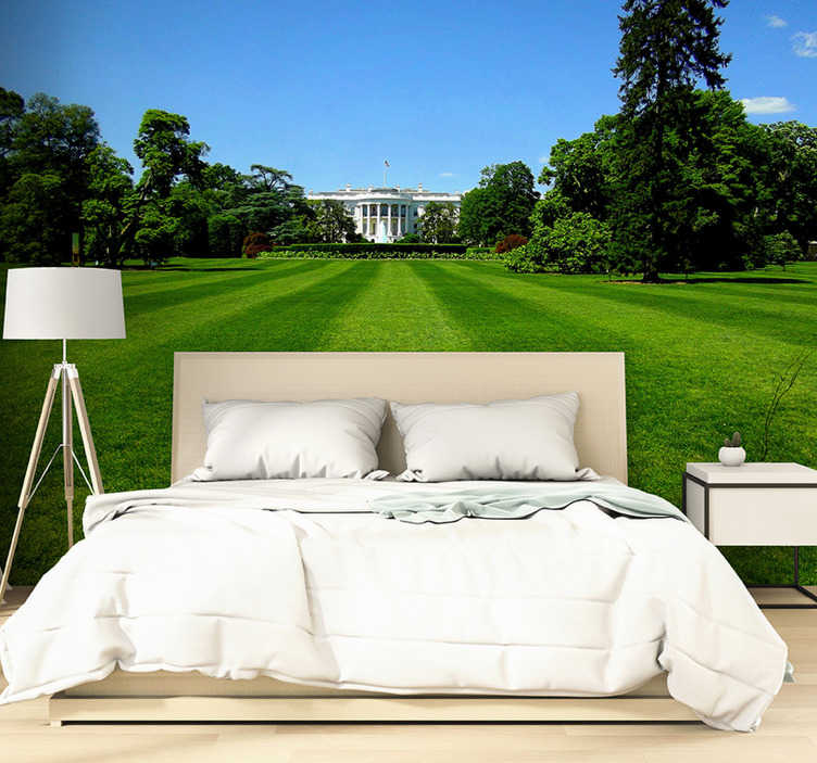 TenStickers. White House - Washington mural wallpaper. Feel like you are visiting White House with this large wall mural made of a high quality image. Fall in love with matte finishing!