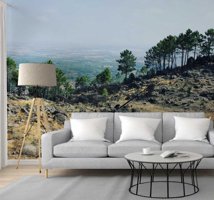 TenStickers. Fotomural de natureza paisagem do Gerês. Aproveite este fotomural decorativo de natureza mostrando as paisagens dos Gerês em Portugal em plena luz do dia.