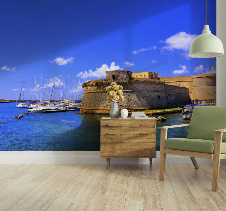 TenStickers. Salento sea view City wall mural. Order this spectacular scenery photo wallpaper with the sea view in Salento. High quality image and matte finishing. Free delivery!