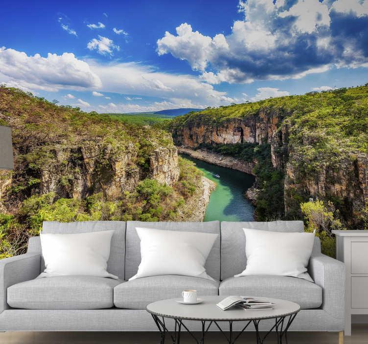 TenStickers. Mural de parede de paisagens Furnas Portugal. Compre agora este mural de parede de paisagens das Furnas e coloque-o na sua sala de estar! Vários tamanhos disponíveis.