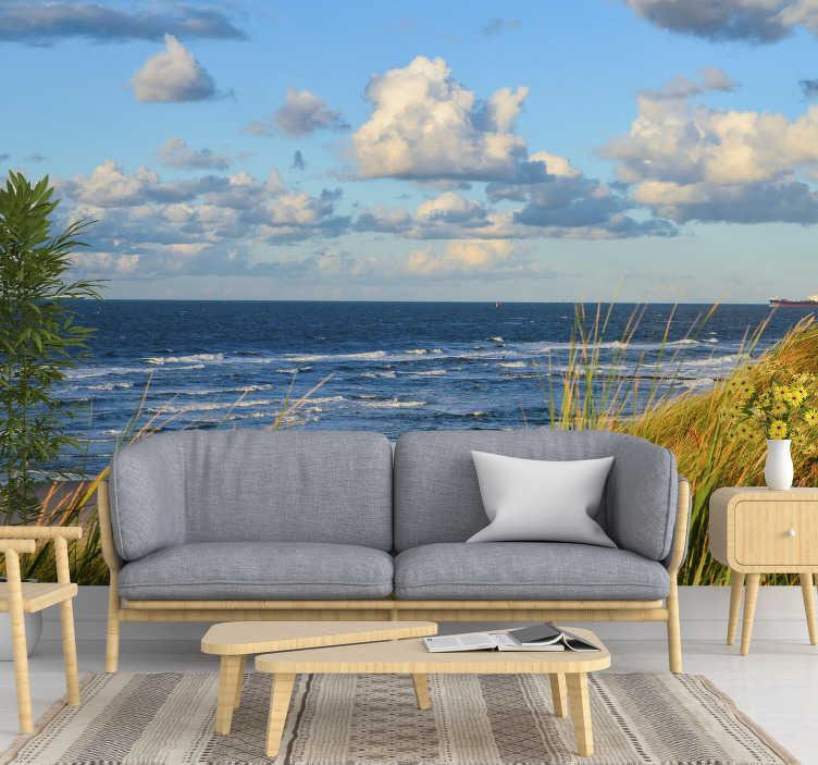 TenStickers. Ostsee Deutschland Meer Foto Tapete. Hier bekommt man einen schönen Blick auf die Ostsee in Deutschland als Landschaftsfototapete. Legen Sie es jetzt in Ihren Warenkorb, es ist einfach anzuwenden!
