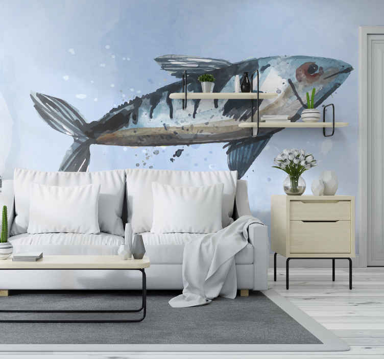 TenStickers. Abstract Sea Food wall mural. An abstract sea food animal wall mural to create an amazing and lovely decorative touch on any space. It is easy to apply.