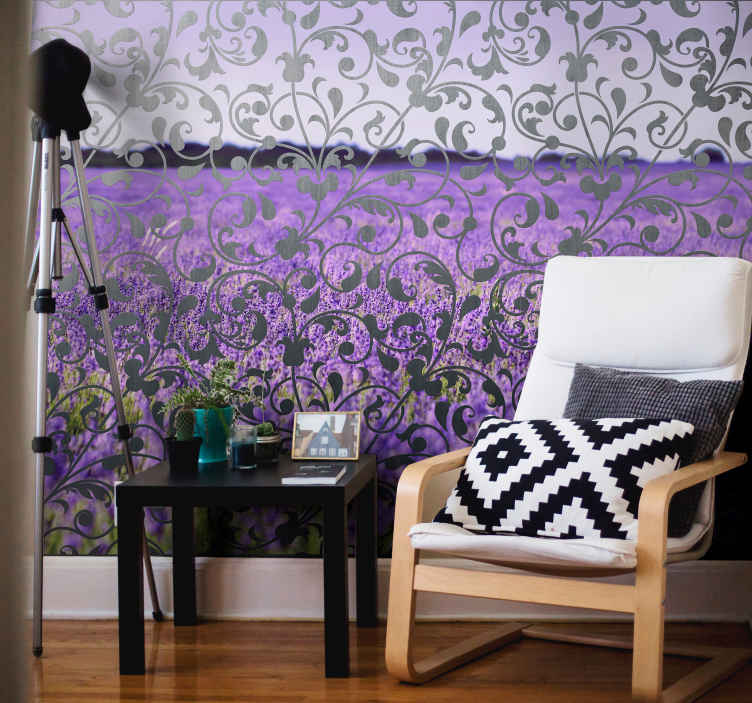 TenStickers. Ornamental leaf Paisley flower mural. Ornamental Paisley flower wall mural for home and office decoration. It is easy to apply and maintain. Available in different sizes.