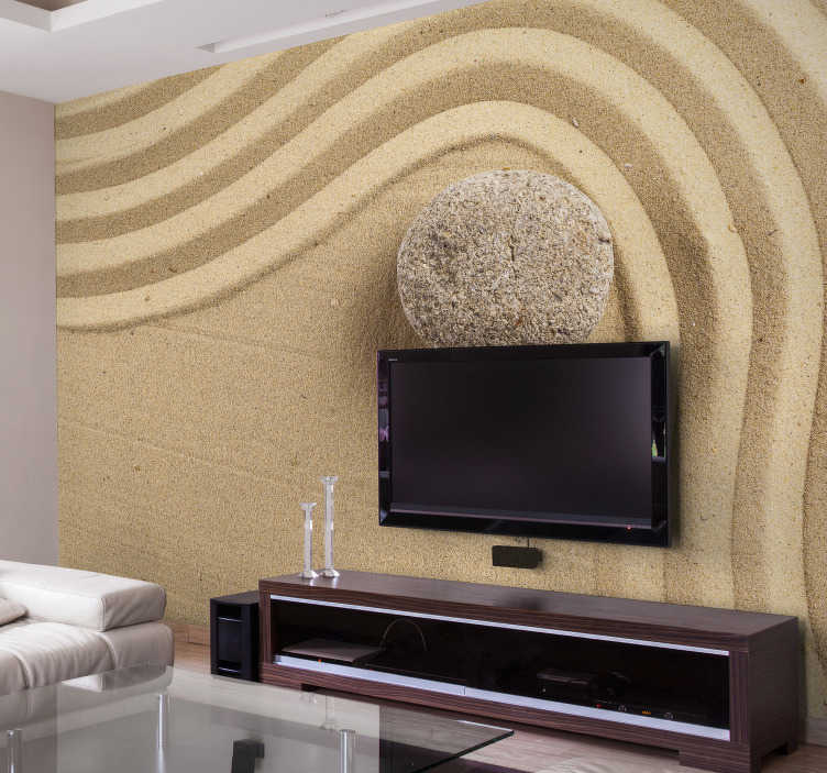 TenStickers. Sand garden zen wall mural. A gorgeous zen wall mural for those wanting to create a peaceful atmosphere in their rooms! This sand garden will fit into your home perfectly
