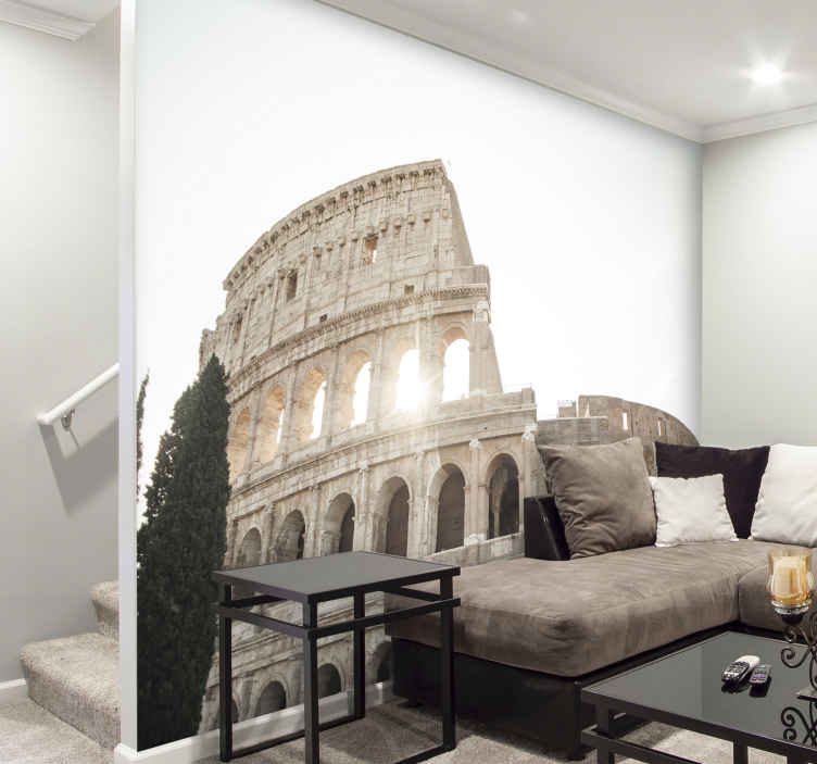 TenStickers. Colosseum mural wallpaper. Giant Rome Colosseum building wall mural to decorate any space with a unique view appearance. The product is easy to apply and of good quality.