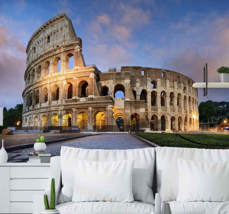 TenStickers. Roma mural wallpaper. A beautiful and unique photo wall mural of Rome giant building structure to decorate your space.The product is made of high quality and easy to apply.