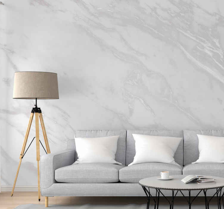 TenStickers. aesthetic white marble wall mural mural wallpaper. An esthetic marble texture wall mural depicting a grey wall made of concrete. This design is just perfect for a living room and other spaces.