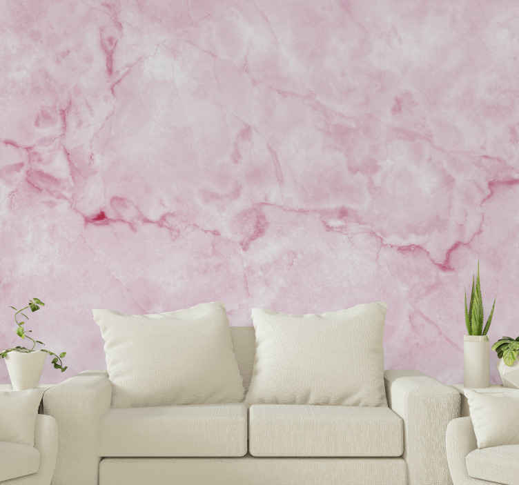 TenStickers. Pink enchanting marble texture mural wallpaper. A wonderful collection of pink marble texture wallpapers for home decoration that everyone will love. Worldwide delivery available!