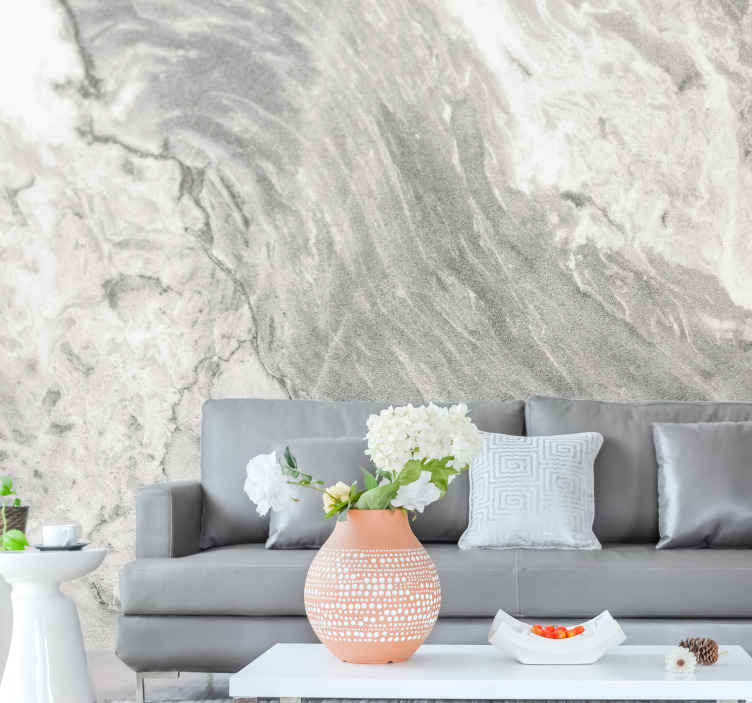 TenStickers. Natural Grey Marble wall mural. Beautiful marble mural which shows off the true beauty of the stone. High quality materials used. Worldwide delivery available.