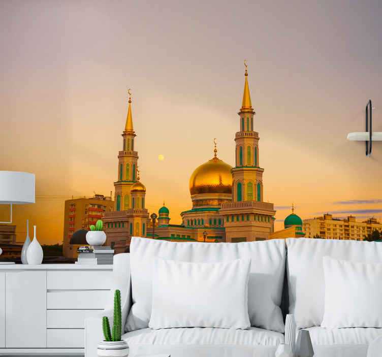 TenStickers. Saint Basil's Cathedral mural wallpaper. Decorative saint Basil's cathedral wall mural in 3D to bring a little piece of Moscow cultural church symbol to your space.