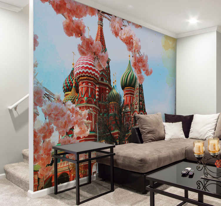 TenStickers. Kremlin and Carousel mural wallpaper. Get your hand on this gorgeous Kremlin and Carousel wall mural today to add heaps of character and uniqueness to you home. Don't miss out!