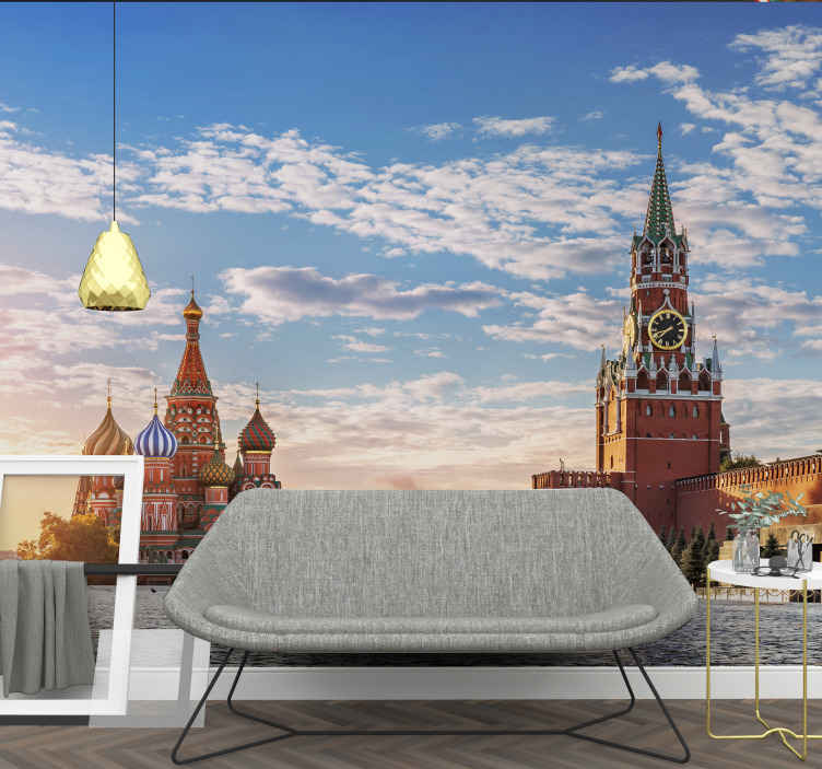 TenStickers. Beautiful Saint Basil's Cathedral mural wallpaper. An incredible Saint Basil's Cathedral photo mural just perfect for the walls of your home! Sign up today and get 10% off your first order.